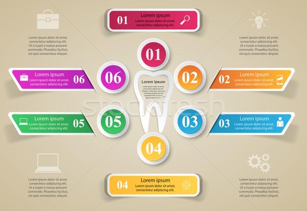 üzlet infografika fog ikon origami stílus Stock fotó © rwgusev