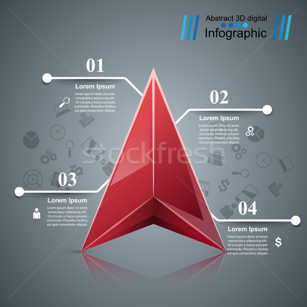 Infographic icons. Arrows icon. Stock photo © rwgusev