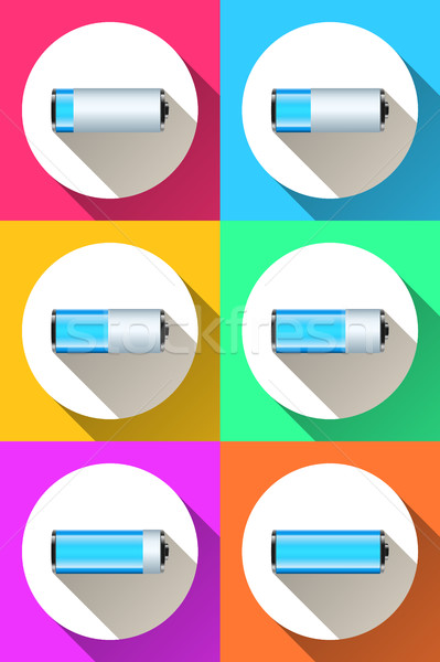 battery icon on the color background. Stock photo © rwgusev