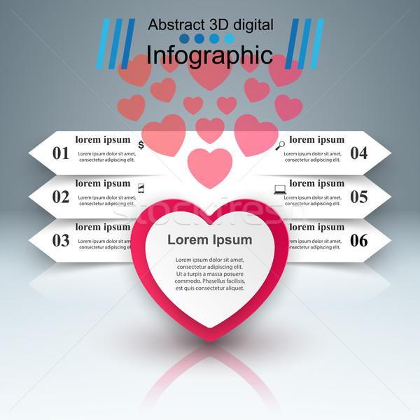 аннотация 3D Цифровая иллюстрация сердце икона Сток-фото © rwgusev