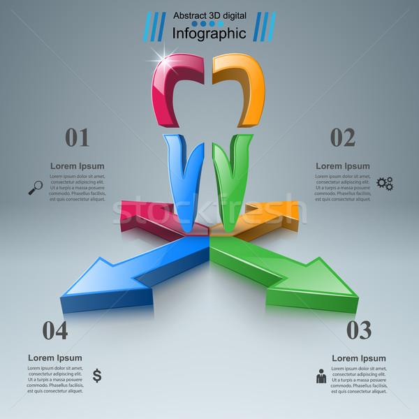 Сток-фото: головоломки · логотип · бизнеса · Инфографика · 3D · икона
