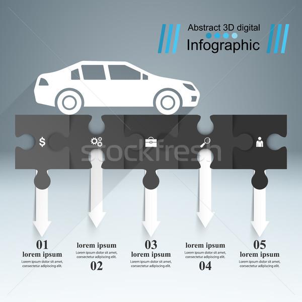 út infografika design sablon marketing ikonok absztrakt Stock fotó © rwgusev
