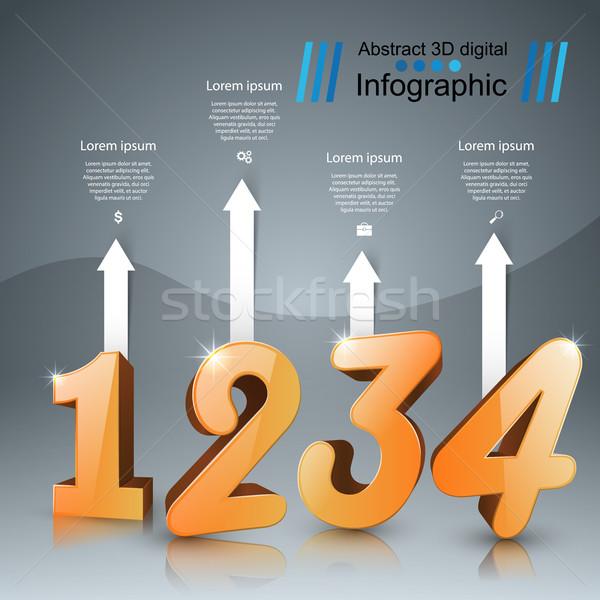 Сток-фото: бизнеса · числа · икона · дизайн · шаблона · маркетинга