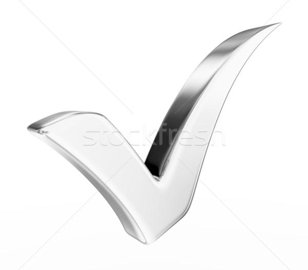 3d illustration gümüş kontrol ayakta beyaz Stok fotoğraf © rzymu