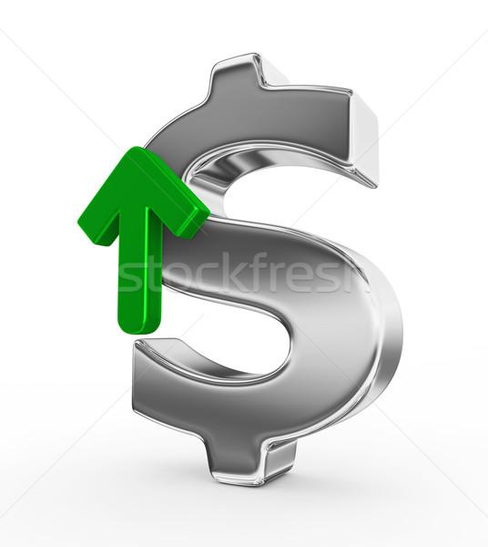Dollaro valuta rendering 3d soldi segno mercato Foto d'archivio © rzymu