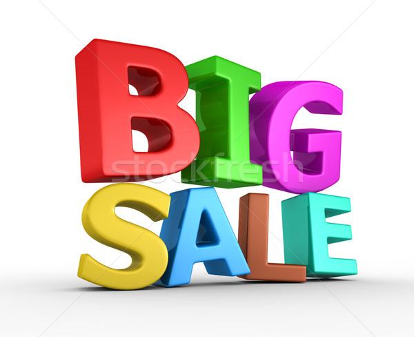 Groot verkoop 3d render winkel macht store Stockfoto © rzymu