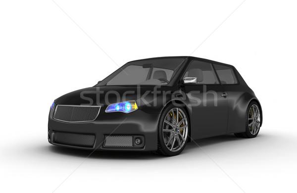 3d render ontwerp metaal snelheid zwarte Stockfoto © rzymu