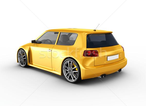 Stockfoto: 3d · render · ontwerp · metaal · snelheid · zwarte