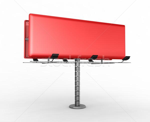 Billboard plaats tekst 3d render business marketing Stockfoto © rzymu
