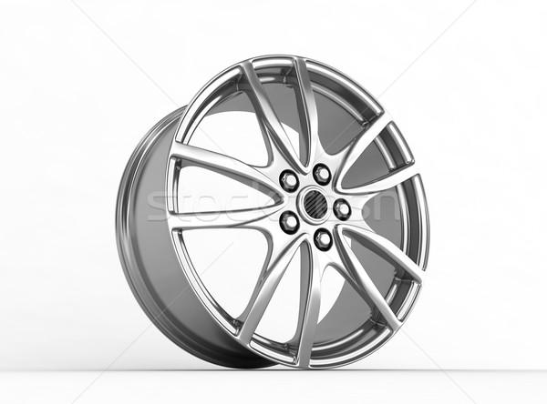 Neumático aleación rueda 3d coche deporte Foto stock © rzymu