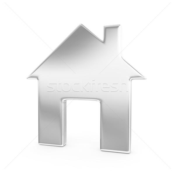 Huis 3d render home venster zilver geïsoleerd Stockfoto © rzymu