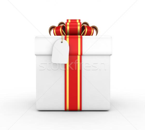 ギフトボックス 3dのレンダリング デザイン 背景 ボックス 手紙 ストックフォト © rzymu