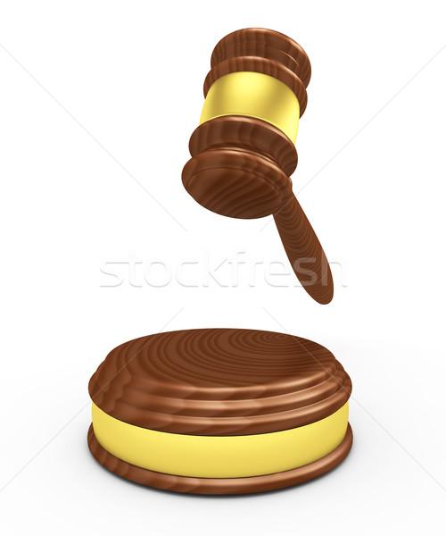 Gabela 3d render fundo justiça advogado branco Foto stock © rzymu