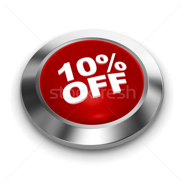 Stock photo: Button 10% off