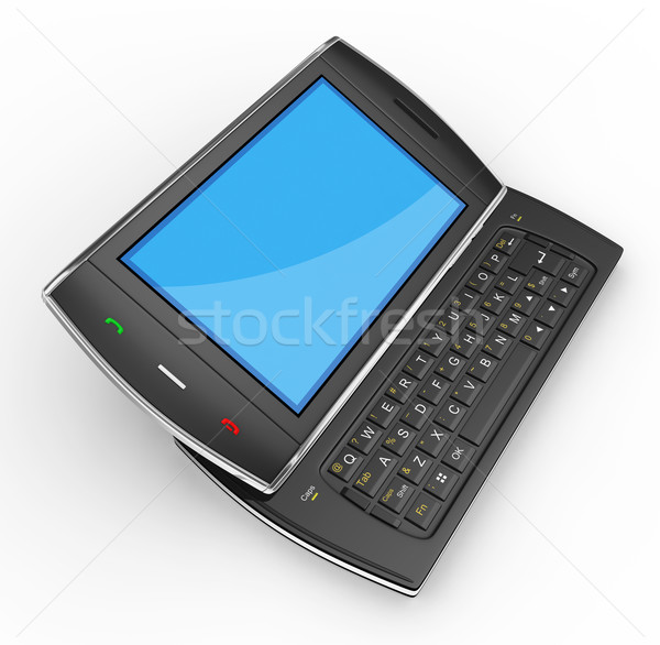 Zwarte mobiele gedetailleerd 3d render business Stockfoto © rzymu