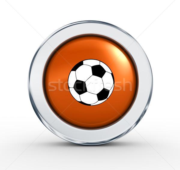 Moderne voetbal teken 3d render internet sport Stockfoto © rzymu