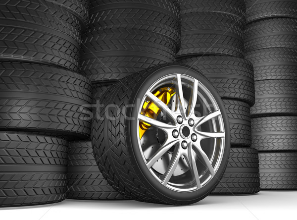 Tire and alloy wheel Stock photo © rzymu