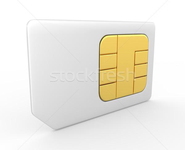 Kaart 3D telefoon sleutel communicatie praten Stockfoto © rzymu