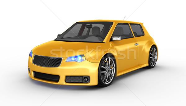 Sportautó 3d render terv fém sebesség fekete Stock fotó © rzymu