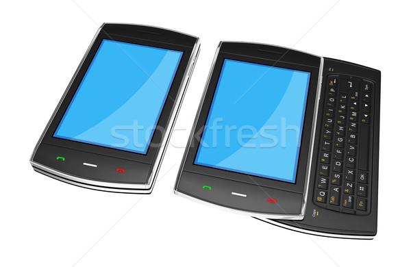Negro móviles detallado 3d negocios Foto stock © rzymu