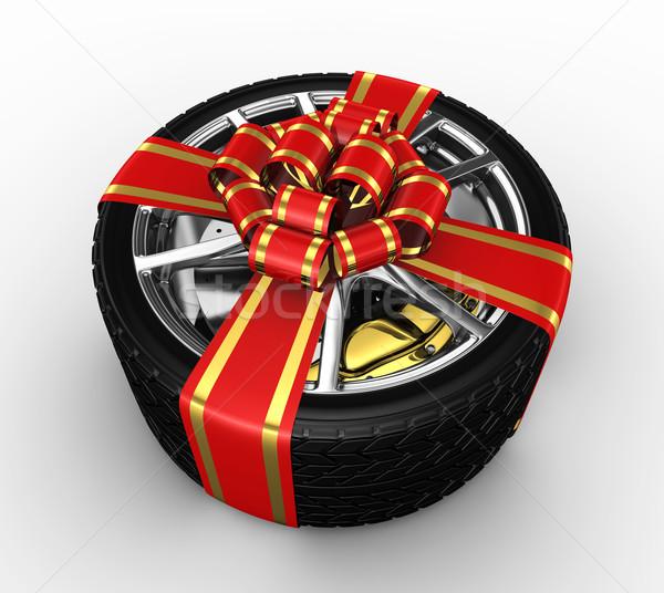 タイヤ リボン 3dのレンダリング 幸せ デザイン 背景 ストックフォト © rzymu