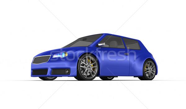 Stock fotó: Sportautó · 3d · render · terv · fém · sebesség · fekete