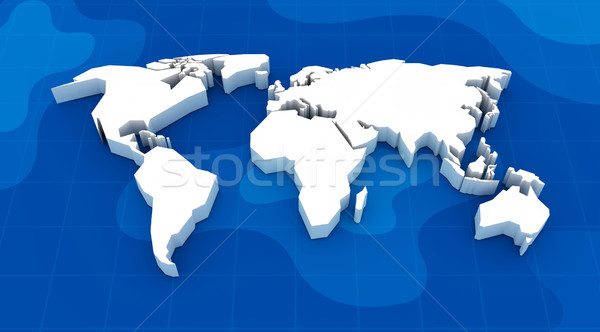 Mapa del mundo 3d tecnología fondo financiar wallpaper Foto stock © rzymu