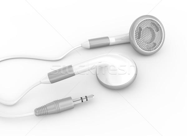 イヤホン 白 電話 技術 電話 ケーブル ストックフォト © rzymu