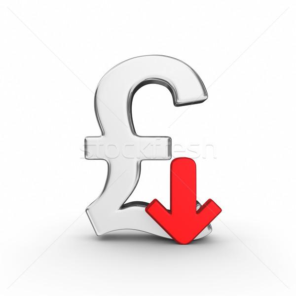 下がり ポンド 通貨 3dのレンダリング 市場 グラフィック ストックフォト © rzymu