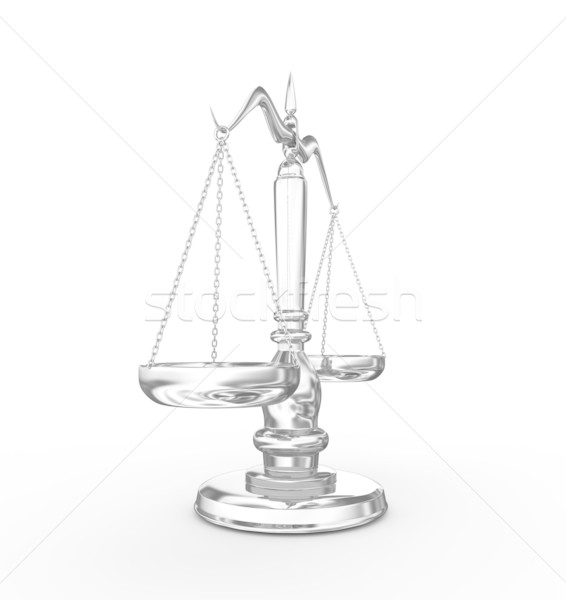 Escala 3d render justiça juiz crime peso Foto stock © rzymu
