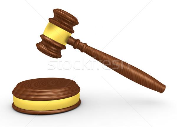 молоток 3d визуализации фон правосудия адвокат белый Сток-фото © rzymu