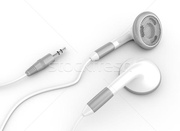 Witte telefoon technologie telefoon kabel Stockfoto © rzymu