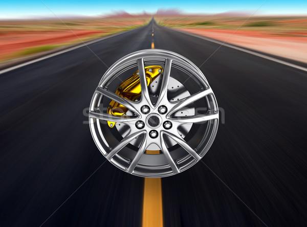 タイヤ 合金 ホイール 3dのレンダリング 車 スポーツ ストックフォト © rzymu