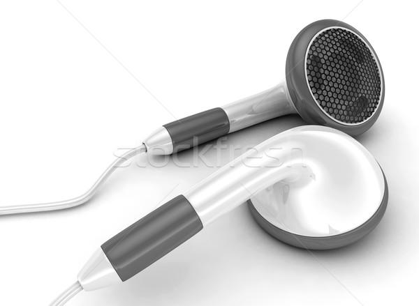 Earphones on a white background  Stock photo © rzymu