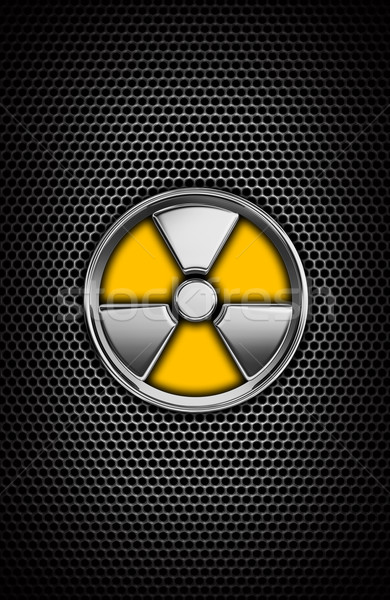 Sugárzás felirat 3D fehér biztonság nukleáris Stock fotó © rzymu