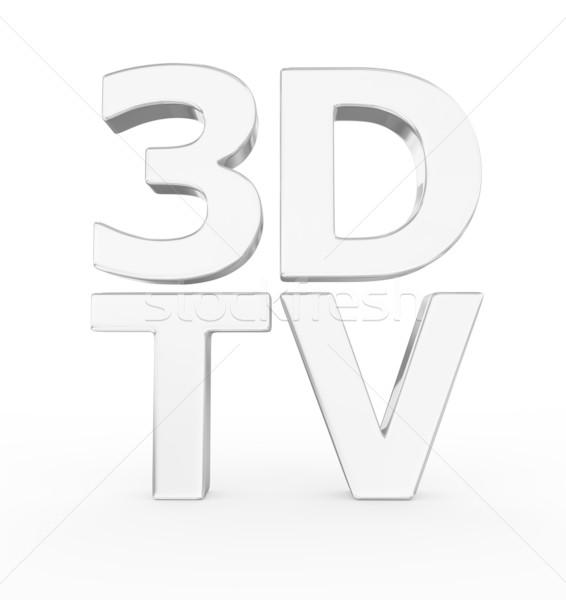Glänzend metallic 3D Wort Hintergrund Zeichen Stock foto © rzymu