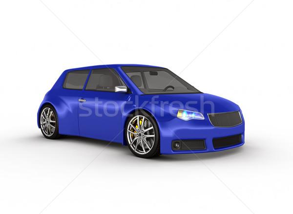 スポーツカー 3dのレンダリング デザイン 金属 速度 黒 ストックフォト © rzymu