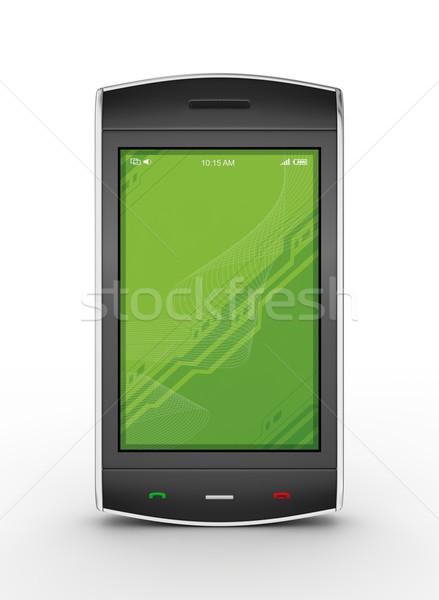 черный мобильных подробный 3d визуализации бизнеса Сток-фото © rzymu