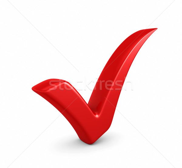 3d illustration of red check mark Stock photo © rzymu