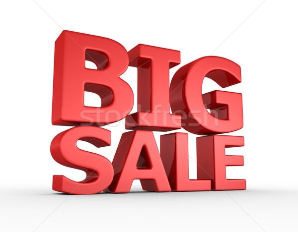 Groot verkoop 3d render achtergrond Rood macht Stockfoto © rzymu