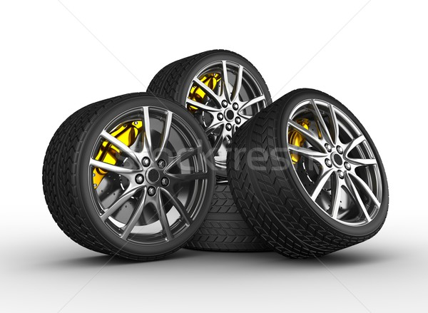Wheels with alloy rims Stock photo © rzymu