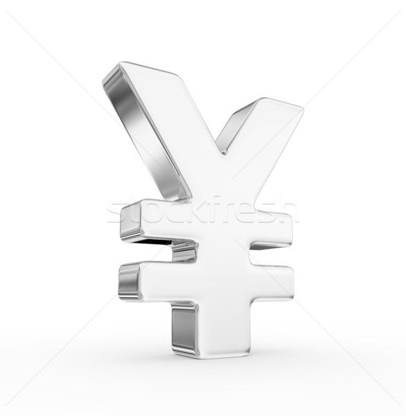 Yen signo 3d negocios éxito tesoro Foto stock © rzymu