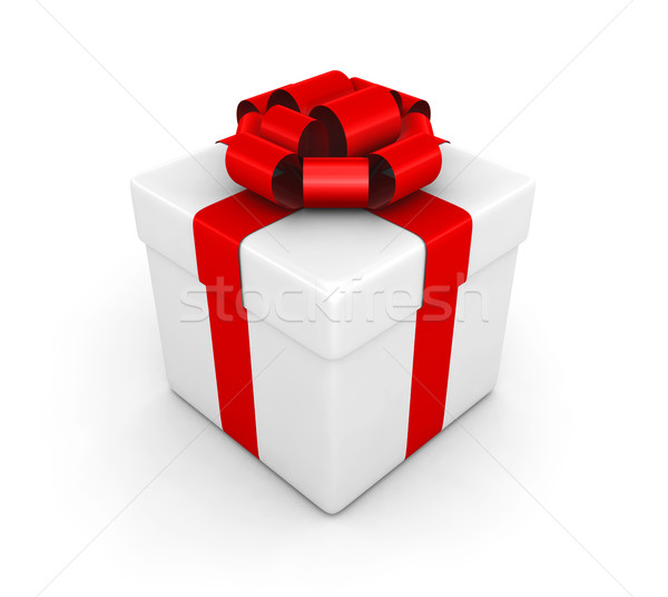 Geschenkdoos 3d render ontwerp achtergrond vak brief Stockfoto © rzymu