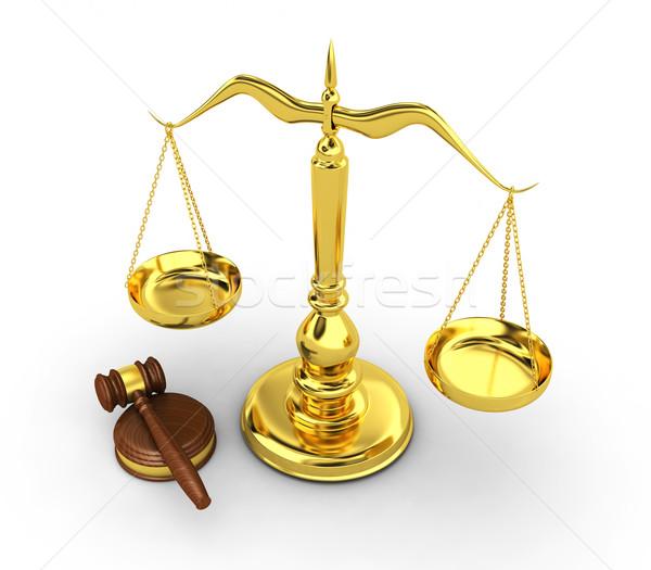 ölçek 3d render web hukuk yargıç dengelemek Stok fotoğraf © rzymu