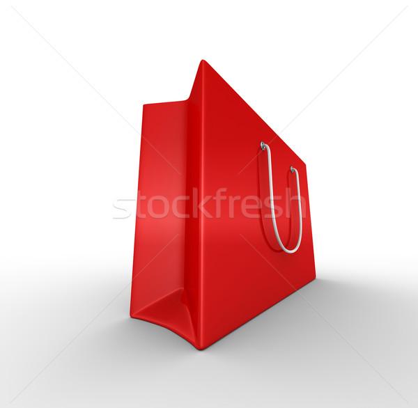 Rood geschenk zak 3d render vak store Stockfoto © rzymu