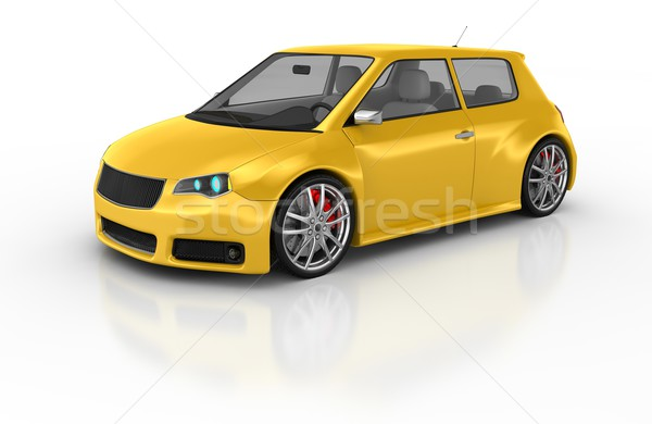 Спортивный автомобиль 3d визуализации дизайна металл скорости черный Сток-фото © rzymu