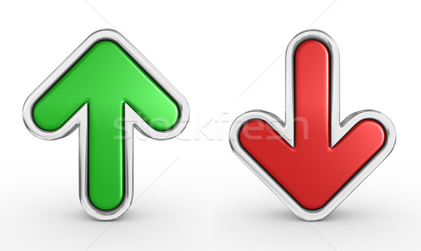green and red arrow Stock photo © rzymu