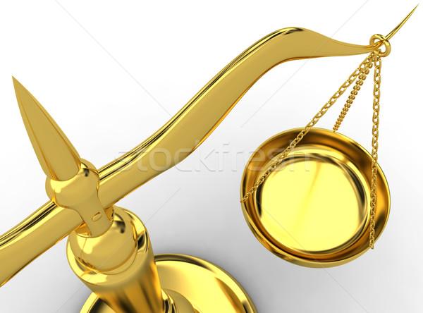 ölçek 3d render hukuk çelik yargıç dengelemek Stok fotoğraf © rzymu