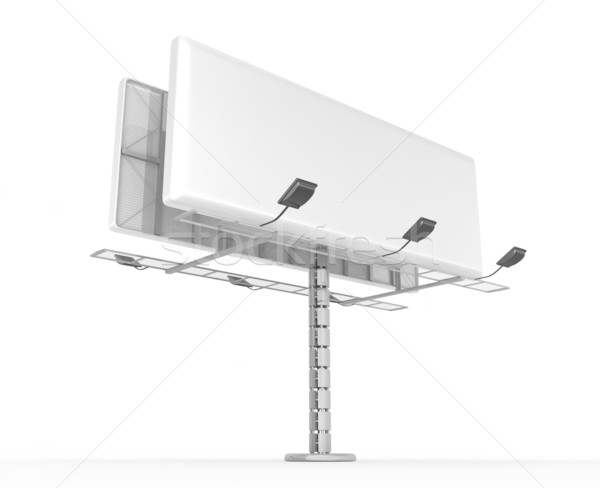 Billboard plaats tekst 3d render business marketing Stockfoto © rzymu