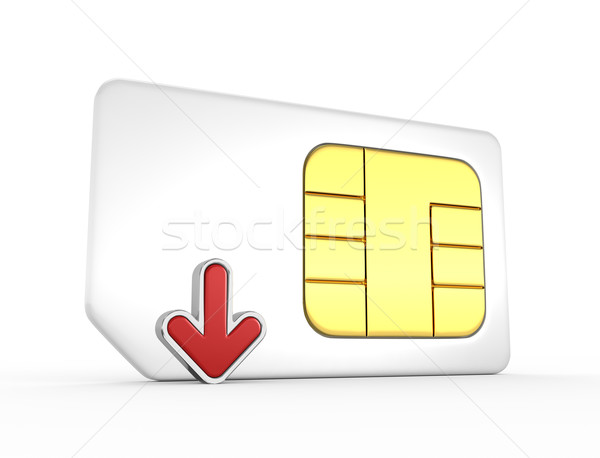 Kaart Rood pijl 3D telefoon sleutel Stockfoto © rzymu